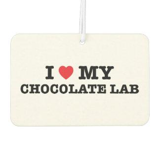 I Heart My Chocolate Lab Air Freshener
