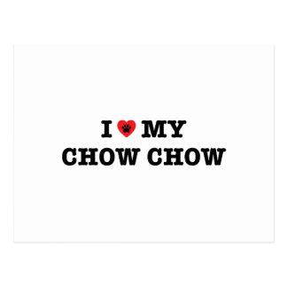 I Heart My Chow Chow Postcard