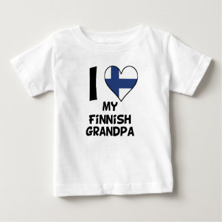 I Heart My Finnish Grandpa Baby T-Shirt
