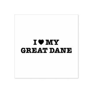 I Heart My Great Dane Wood Stamp