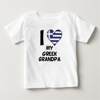 I Heart My Greek Grandpa Baby T-Shirt