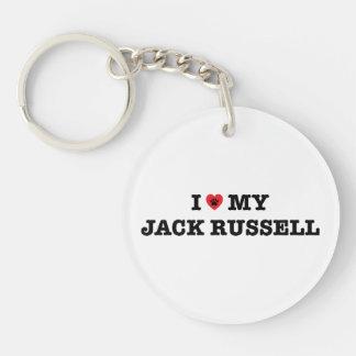 I Heart My Jack Russell Acrylic Keychain