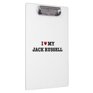 I Heart My Jack Russell Clipboard