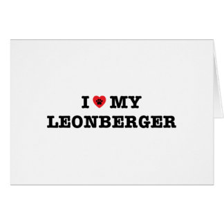 I Heart My Leonberger Greeting Card