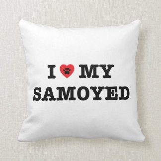 I Heart My Samoyed Cushion