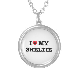 I Heart My Sheltie Necklace