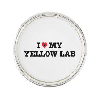 I Heart My Yellow Lab Lapel Pin