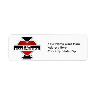 I Heart New Hampshire Return Address Label