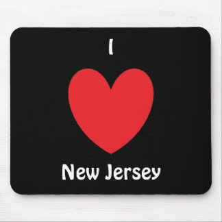 I Heart New Jersey Mousepad