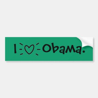 """I """"HEART"""" OBAMA! BUMPER STICKER"""
