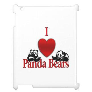 I Heart Panda Bears iPad Case
