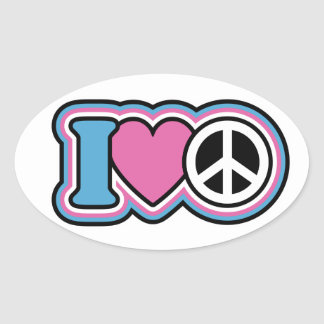I HEART PEACE STICKERS