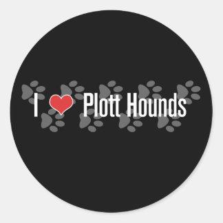 I (heart) Plott Hounds Classic Round Sticker