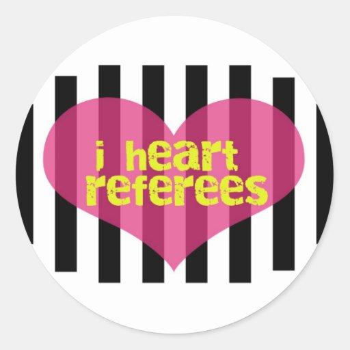 I Heart Referees Sticker