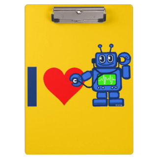 I heart robot, robot listen to heart clipboards