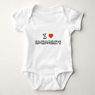 I Heart Sacramento Baby Bodysuit