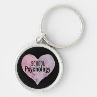 I Heart School Psychology Key Chain