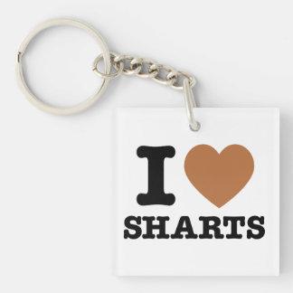 I Heart Sharts Funny Icon Graphic Key Ring