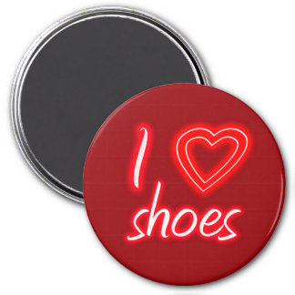 I heart shoes 7.5 cm round magnet