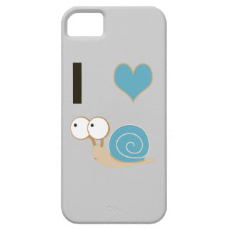 I heart snails - blue iPhone 5 covers