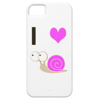 I heart Snails - Pink Barely There iPhone 5 Case