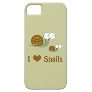 I Heart Snails- two cute snails Case For The iPhone 5