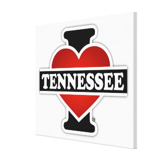 I Heart Tennessee Gallery Wrap Canvas