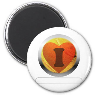 I heart Tennis- add your words 6 Cm Round Magnet