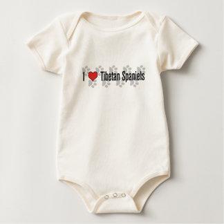 I (heart) Tibetan Spaniels Baby Bodysuit