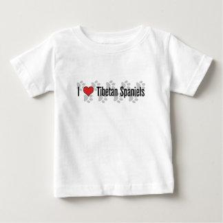 I (heart) Tibetan Spaniels Baby T-Shirt