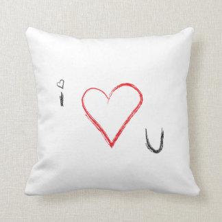 I heart u pillow