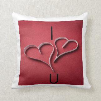 I heart U pillow Throw Cushion