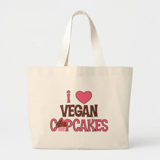 I Heart Vegan Cupcakes Canvas Bag