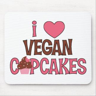 I Heart Vegan Cupcakes Mouse Pad