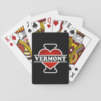 I Heart Vermont Playing Cards