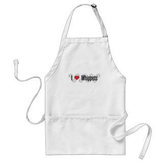 I (heart) Whippets Standard Apron