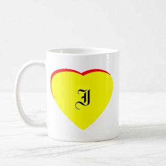 """I"" Heart Yellow Red Wedding Invitation The MUSEUM Classic White Coffee Mug"