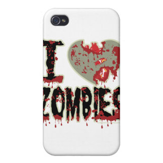i heart zombies! covers for iPhone 4