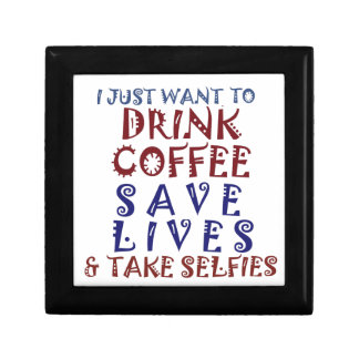 I Just want to drink coffee Save lives Gift Box