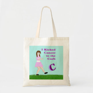 I kicked cancer to the curb bag