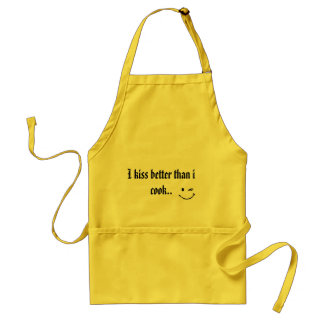 I kiss better than i cook standard apron