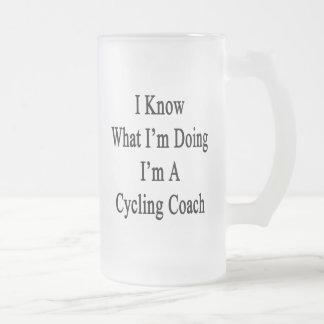 I Know What I'm Doing I'm A Cycling Coach Glass Beer Mug