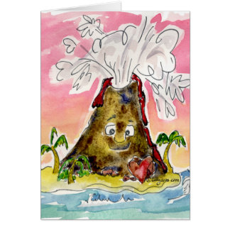 I Lava You- U R So Hot Volcano Valentine Card