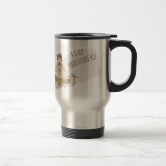 'I like adventurers!' (part II) Travel Mug