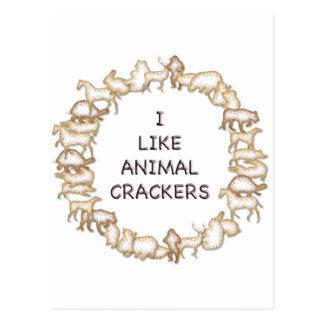 I like animal crackers post card