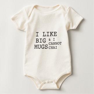 I like big mugs & I cannot chai Baby Bodysuit