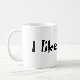 I like it hot. basic white mug