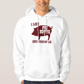 I like Pig Butts and I Cannot Lie BBQ Bacon Hoodie