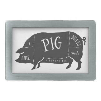 I Like Pig Butts and I Cannot Lie Belt Buckle