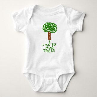 I Like to Hug Trees Baby Bodysuit